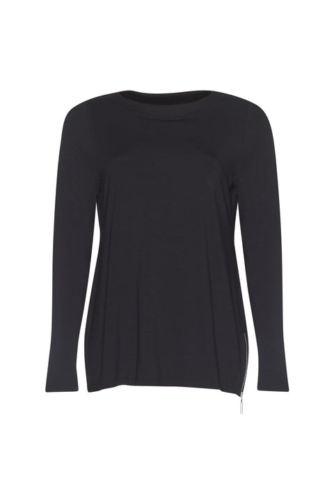 PAULA RYAN Banded Boat Neck Long Sleeve Top - MicroModal - Paula Ryan Fashion Collection - [product type] - Magpie Style