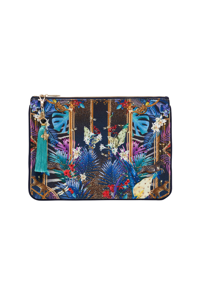 CAMILLA Small Canvas Clutch - Rainbow Room - Magpie Style
