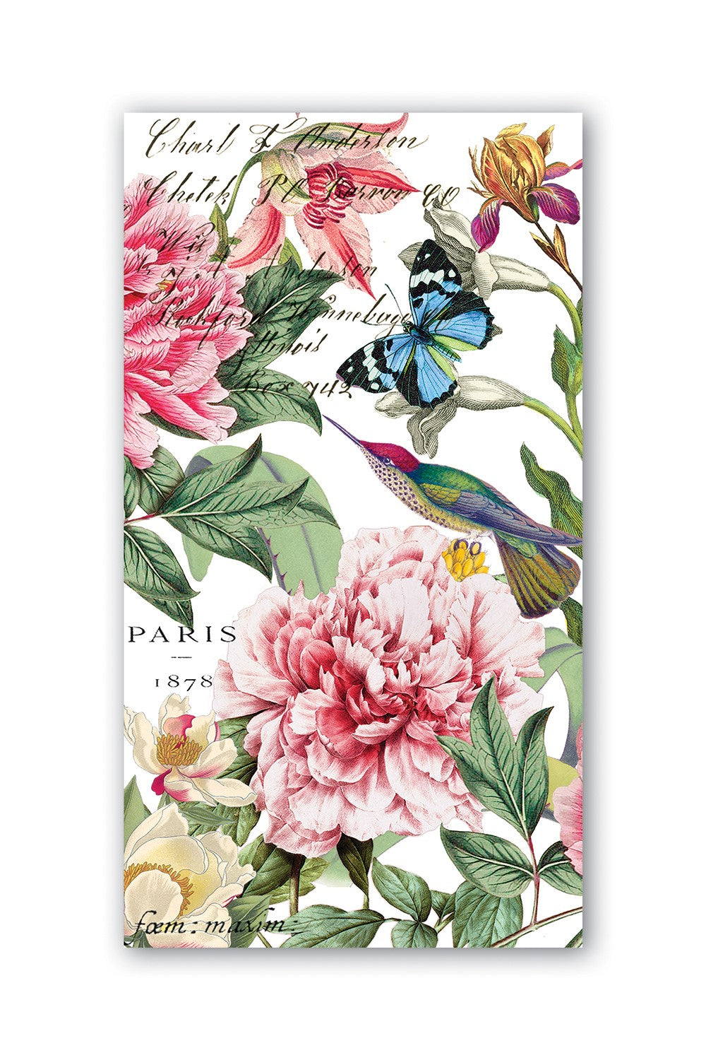 MICHEL DESIGN WORKS Hostess Napkins - Peony - Pack of 15 - Magpie Style
