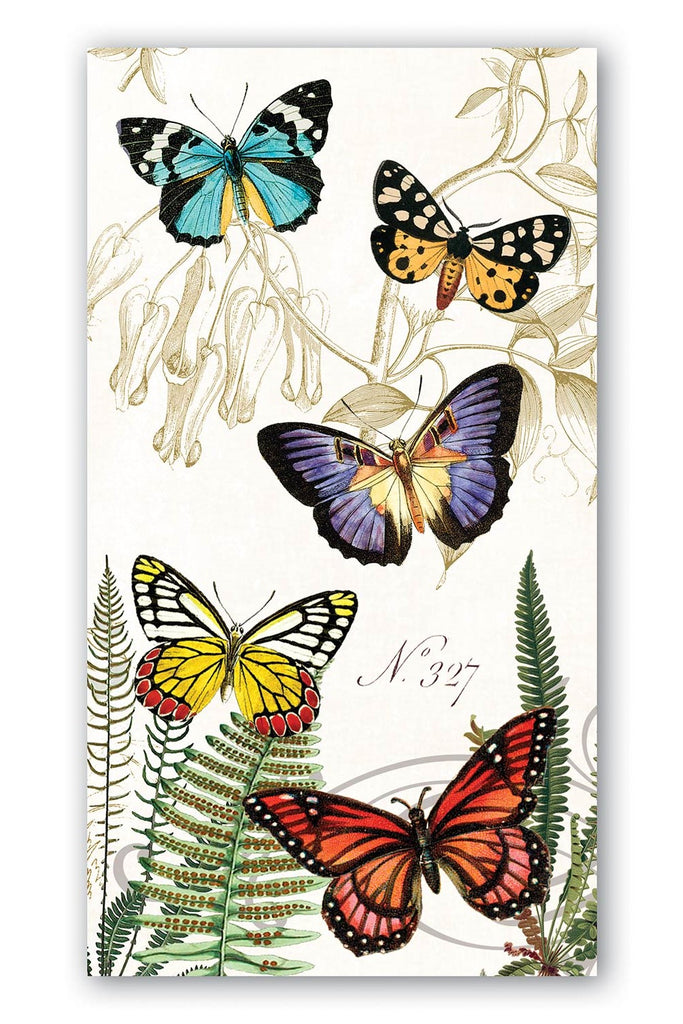 MICHEL DESIGN WORKS Hostess Paper Napkins - Papillon - Pack of 15 - Magpie Style