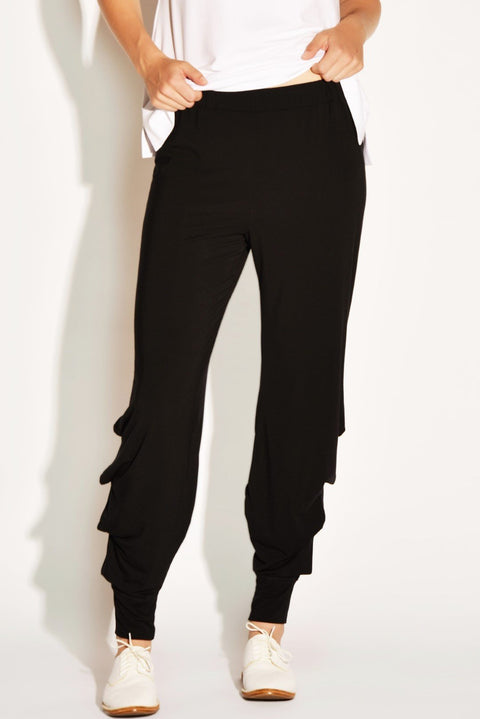 PAULA RYAN RELAXED Tucked Leg Harem Pant - Cashmere Modal - PAULA RYAN Relaxed - [product type] - Magpie Style