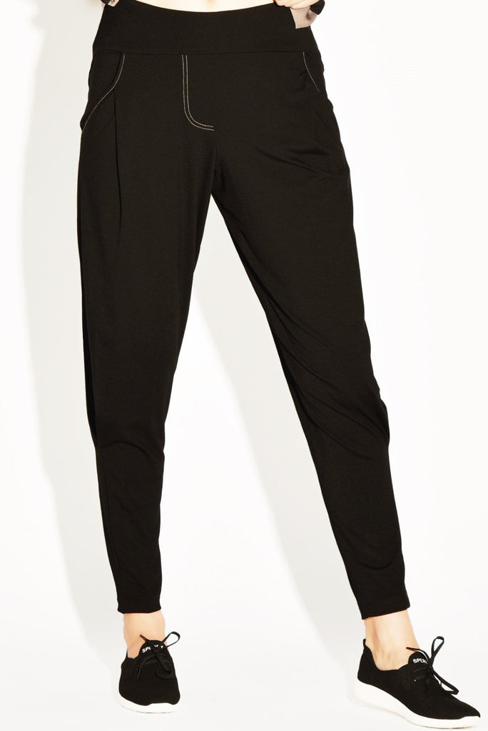 PAULA RYAN RELAXED Curve Basque Pant - Viscose Jersey - PAULA RYAN Relaxed - [product type] - Magpie Style