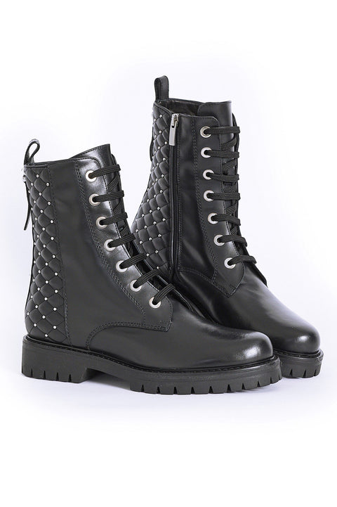 PAULA RYAN Quilted Back Lace Up Boot - Magpie Style