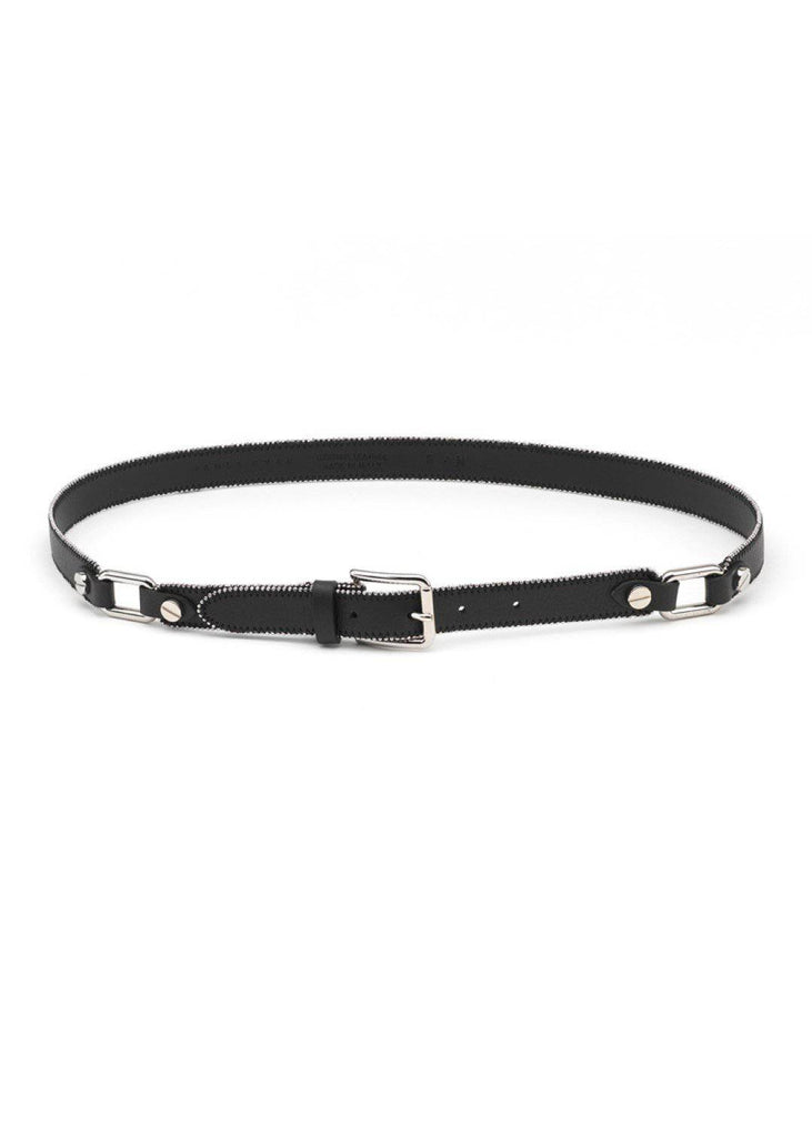 PAULA RYAN Leather Zipper Belt - Magpie Style