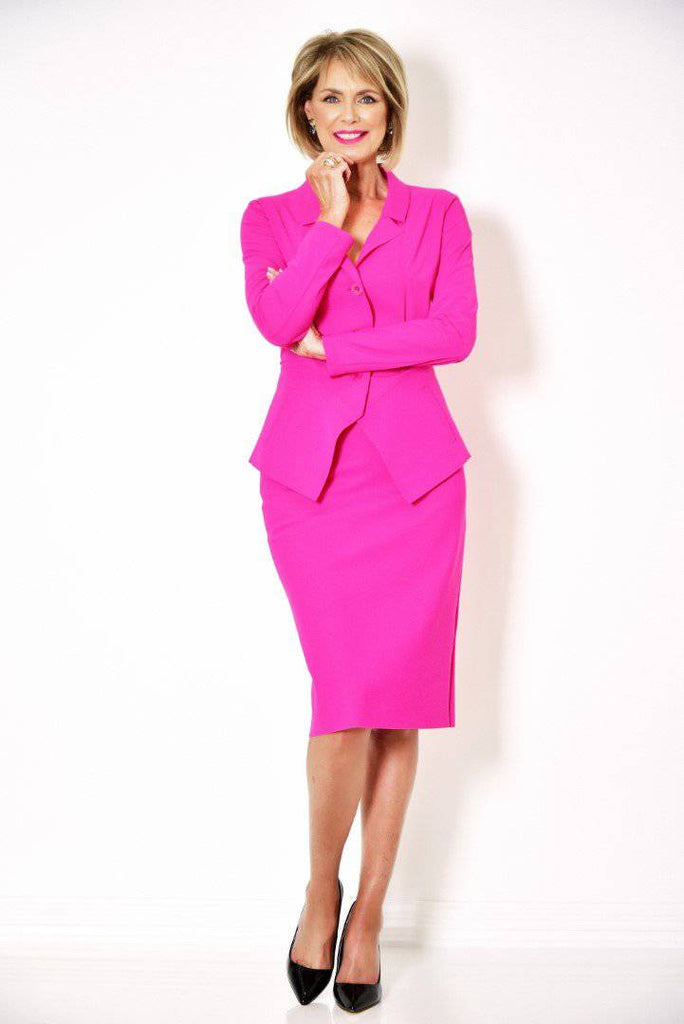 PAULA RYAN ESSENTIALS Regular Stretch Pencil Skirt - Peony - Magpie Style