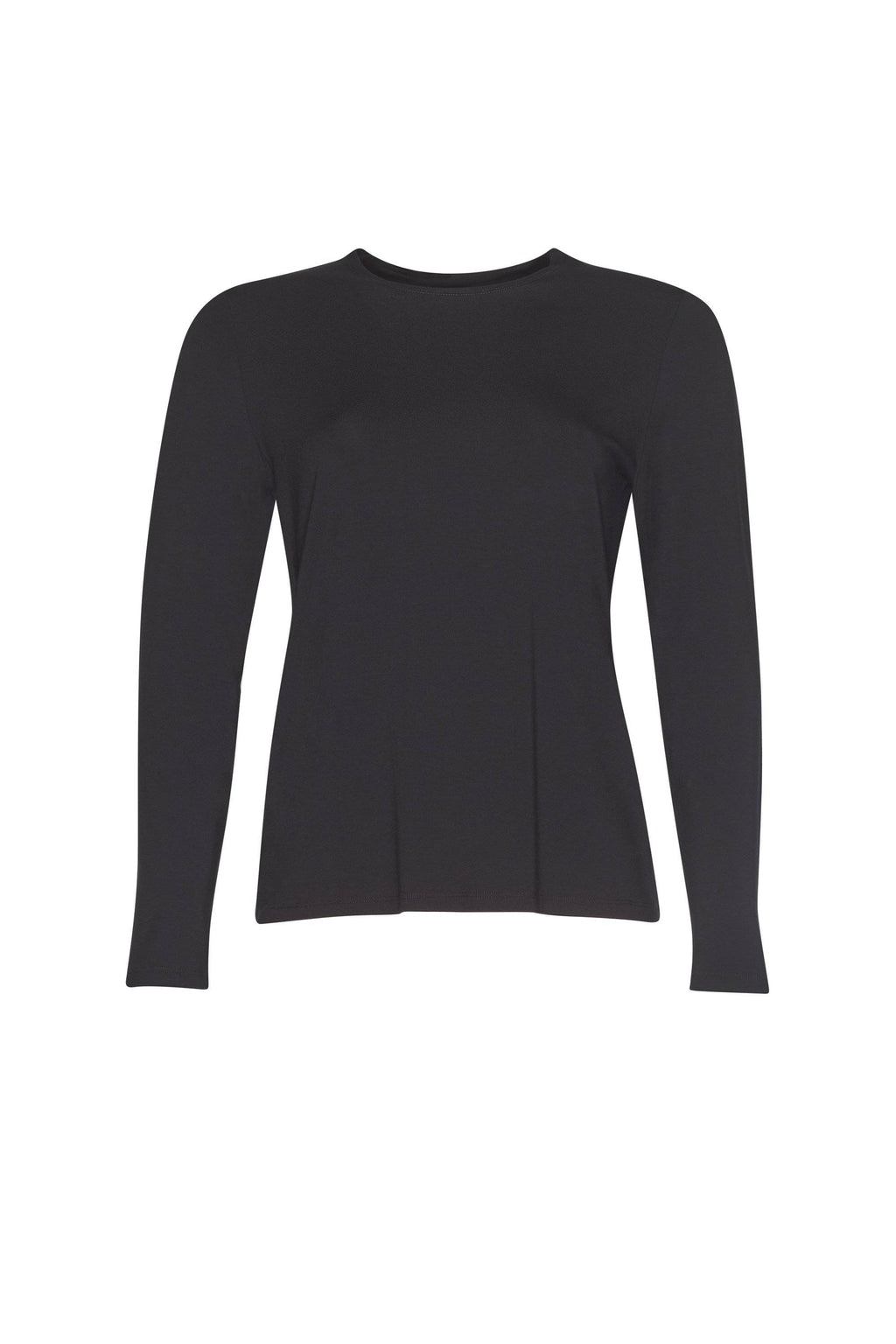 PAULA RYAN ESSENTIALS Easy Fit Long Sleeve Crew Neck Top - MicroModal - Magpie Style