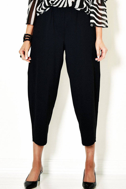PAULA RYAN Cropped Curve Bell Pant - Microjersey - Paula Ryan Fashion Collection - [product type] - Magpie Style