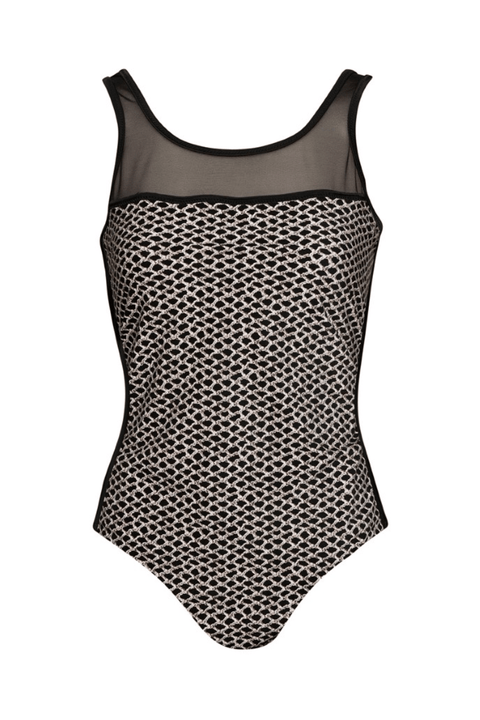 PAULA RYAN Power Mesh and Print Swimsuit - Paula Ryan Swimwear - [product type] - Magpie Style