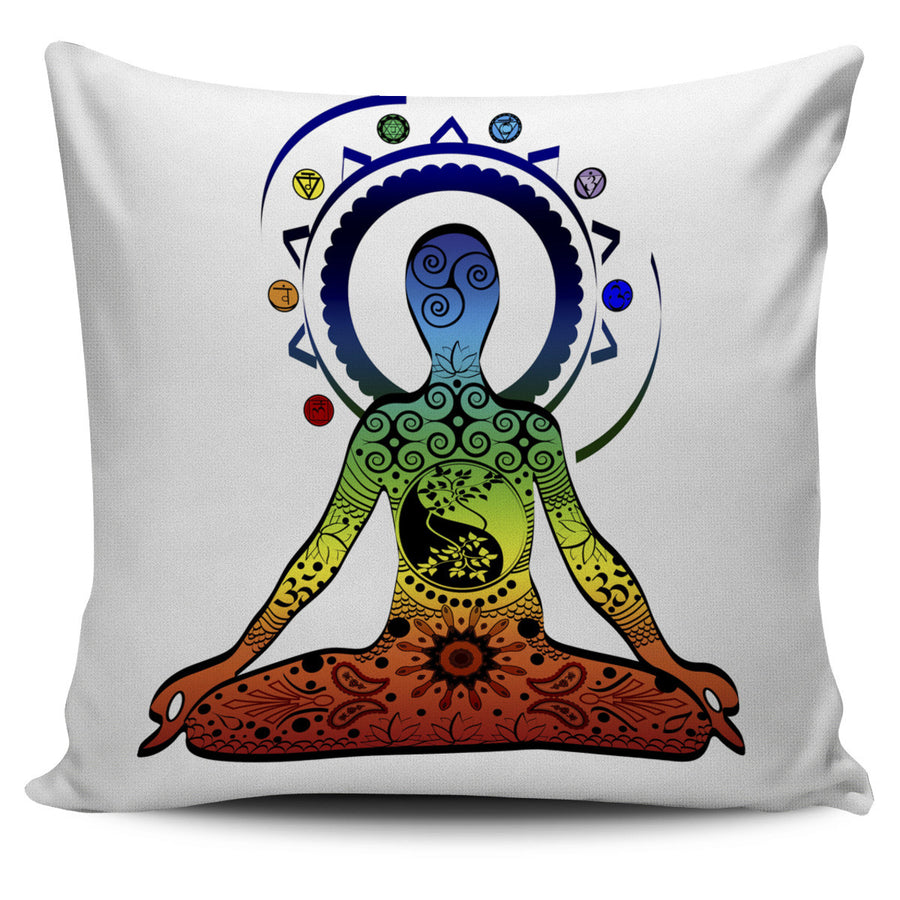 Yoga Image Pillow Cover
