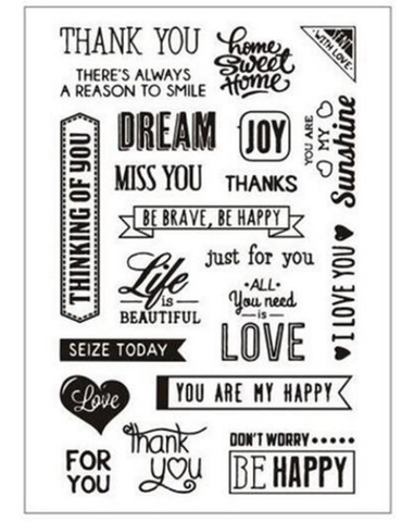 Rubber clear stamp
