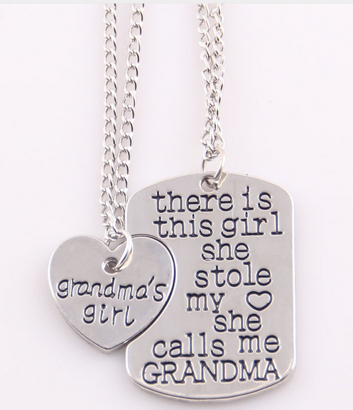 Best Gift Heart Grandma Necklace