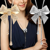 Crystal Bowknot Pendant Long Necklace Rhinestone Offer