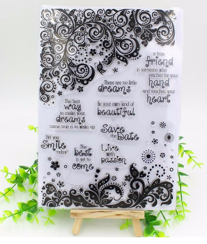 Transparent Clear Silicone Stamp for scrapbooking