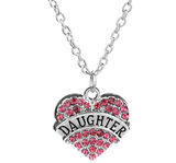 Rhinestone Necklace Crystal Heart Pendant