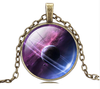 New Glass Galaxy Pendant Necklace