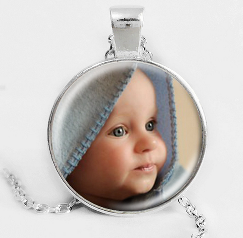 Personalized Photo Pendant Custom Necklace Photo of Your Baby