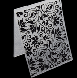 Plastic Embossing Folder Curly Flower Template
