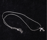 Silver White Plated Crystal Necklace