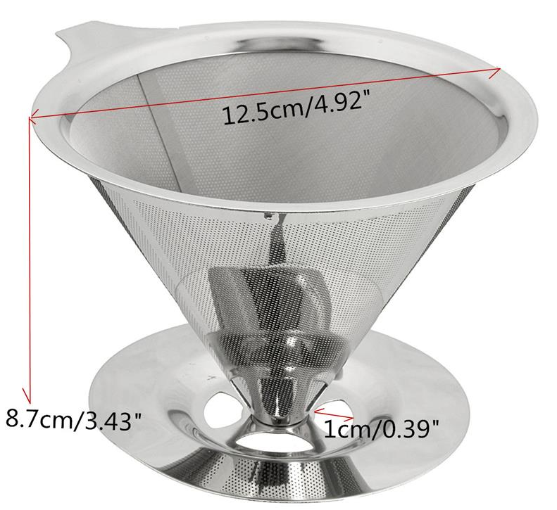 Stainless Steel Pour Over Cone Coffee Dripper