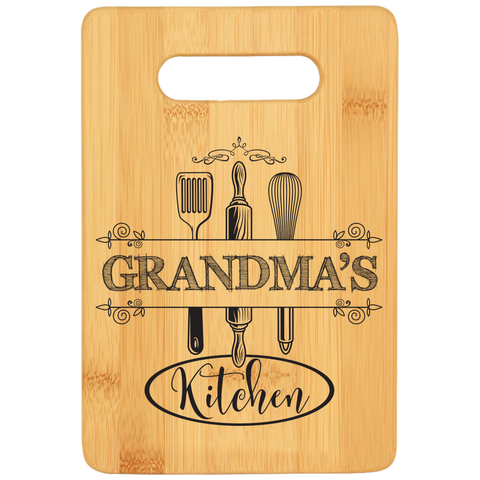 Grandma's Kitchen Cutting Board - Bamboo