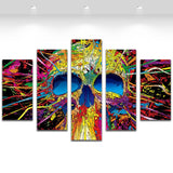 Colorful Skull Painting Wall Picture