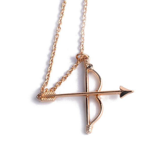 Archery Charm Crystal Chain Necklace