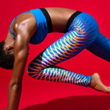 Crisscross 3D print leggings