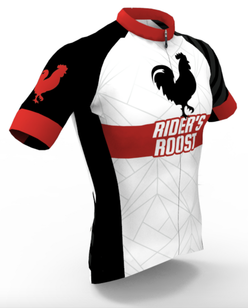 Rider's Roost - White Kit Jersey - Men's