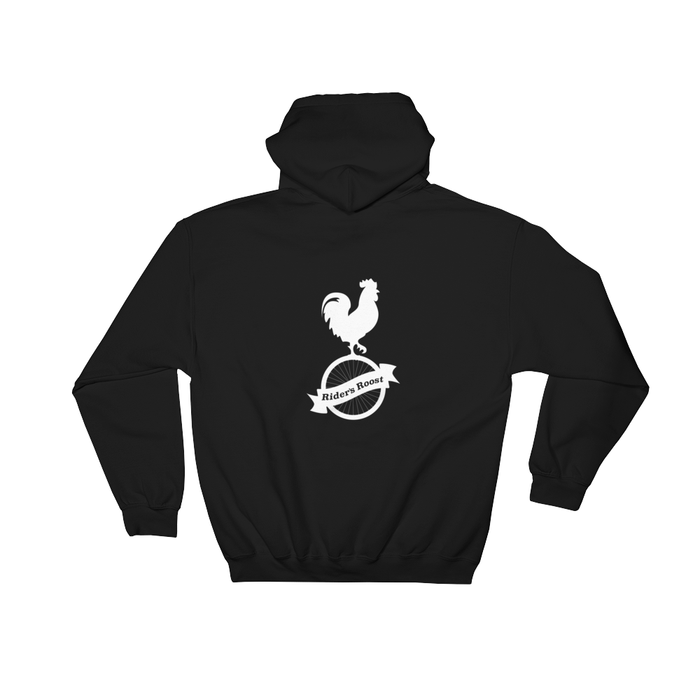 Rider's Roost Classic Pull Over Hoodie (White Logo Front and Back)