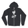 Zip Up Rider's Roost Hoodie sweater (White Logo Front)