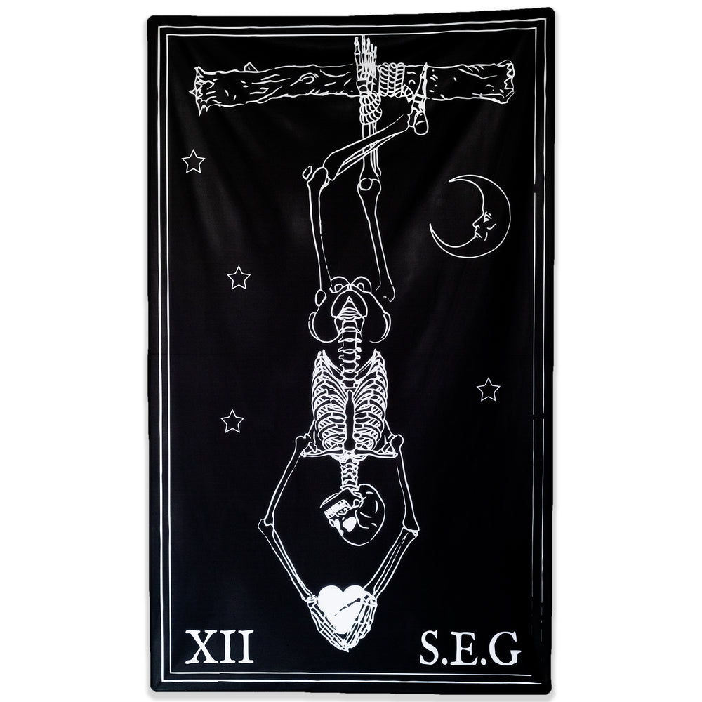BLACK & WHITE HANGED MAN FLAG