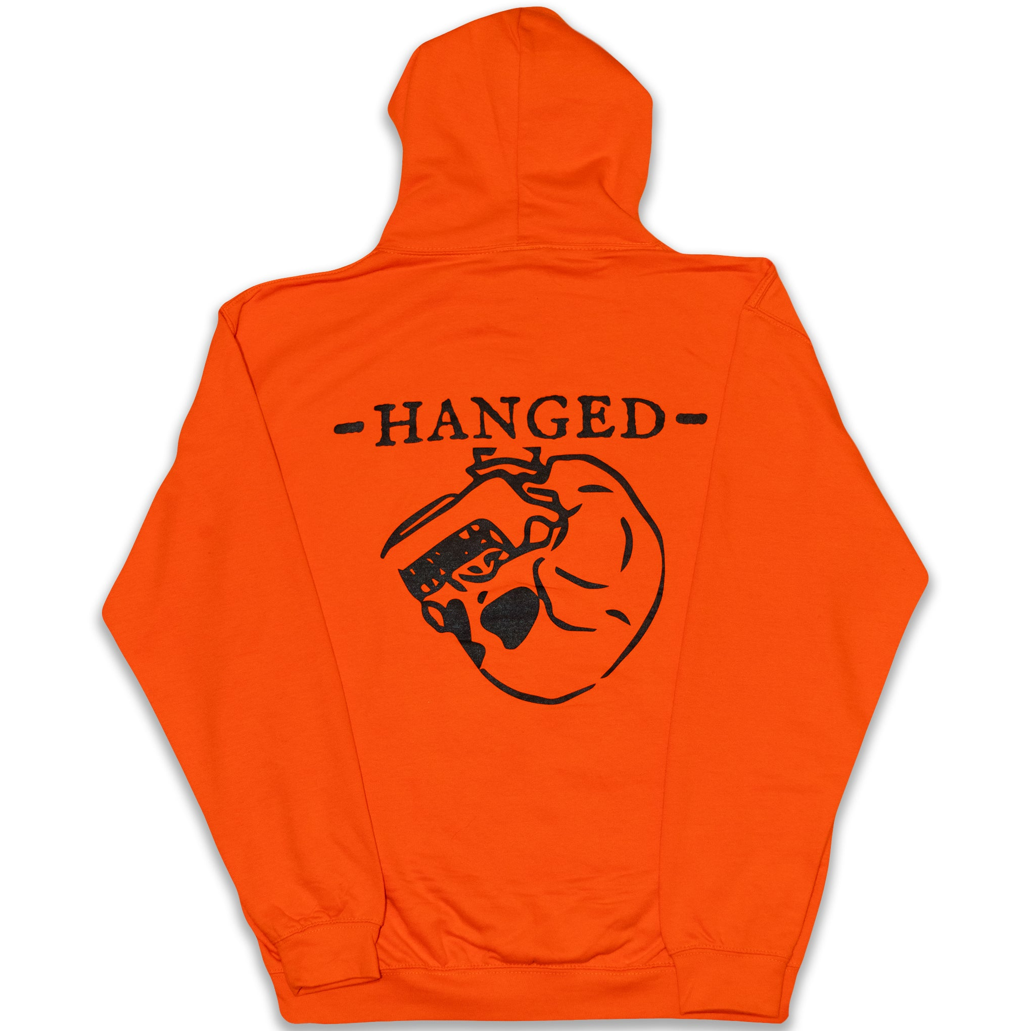 Sunset orange Hanged Hoodie