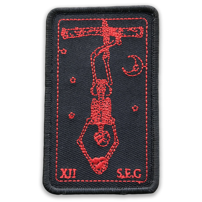 RED & BLACK HANGED MAN Morale Patch
