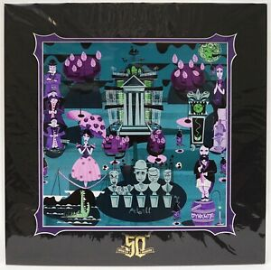 "*Wishlist - Gold Level Exclusive - Art: Haunted Mansion 50th Anniversary - 1313 Grimm Harbor (16"" x 16"")"