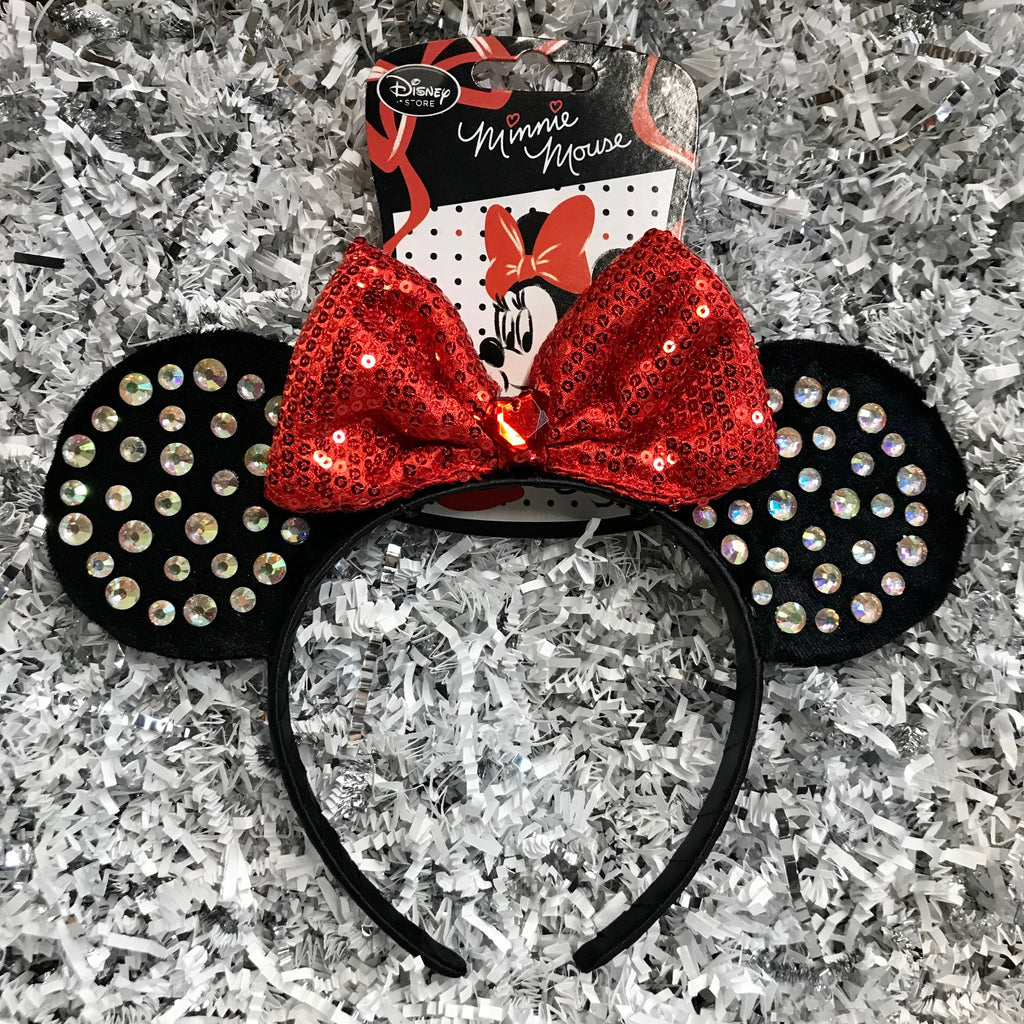 Ear Headband: Minnie Mouse Red Bow (Youth)