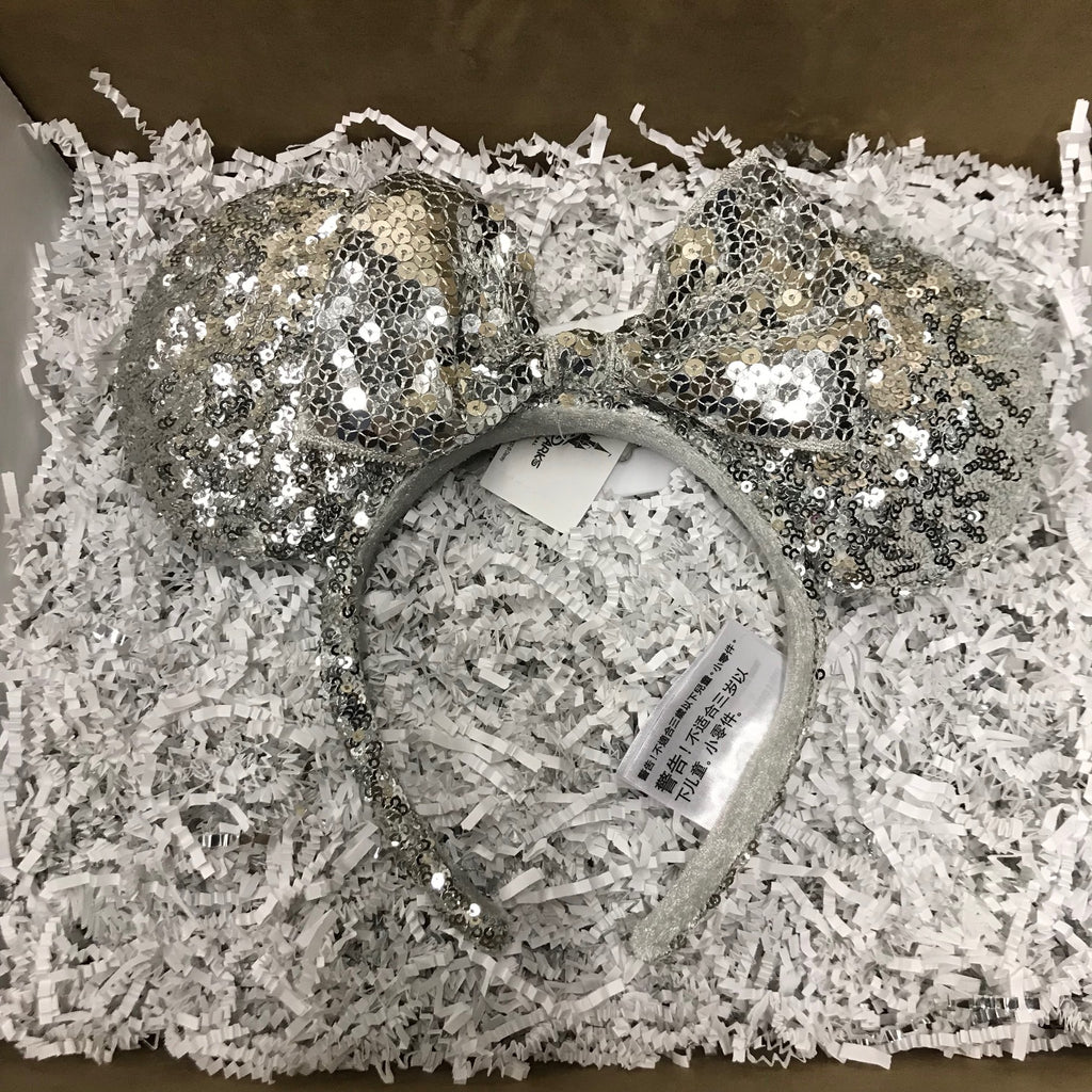 Ear Headband: Silver Sequin