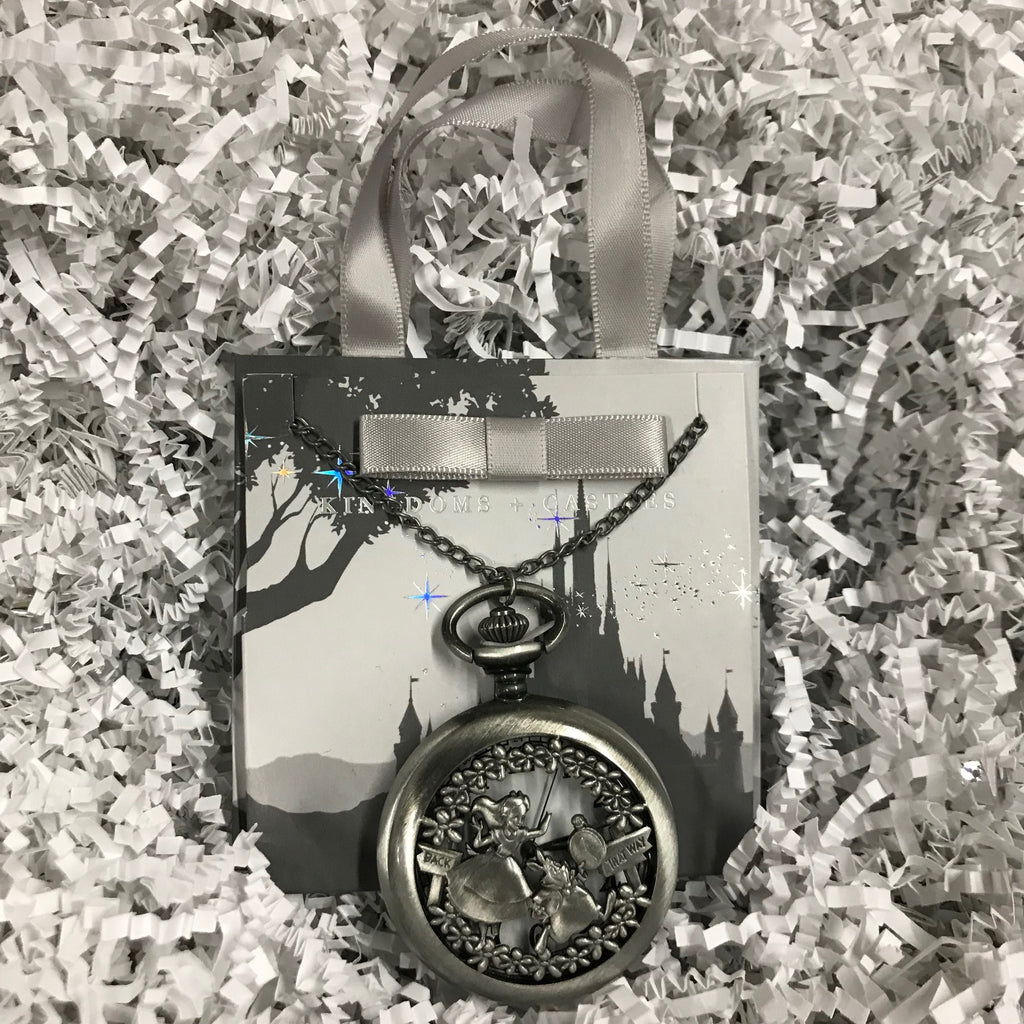 Jewelry - Alice In Wonderland Pocket Watch Necklace