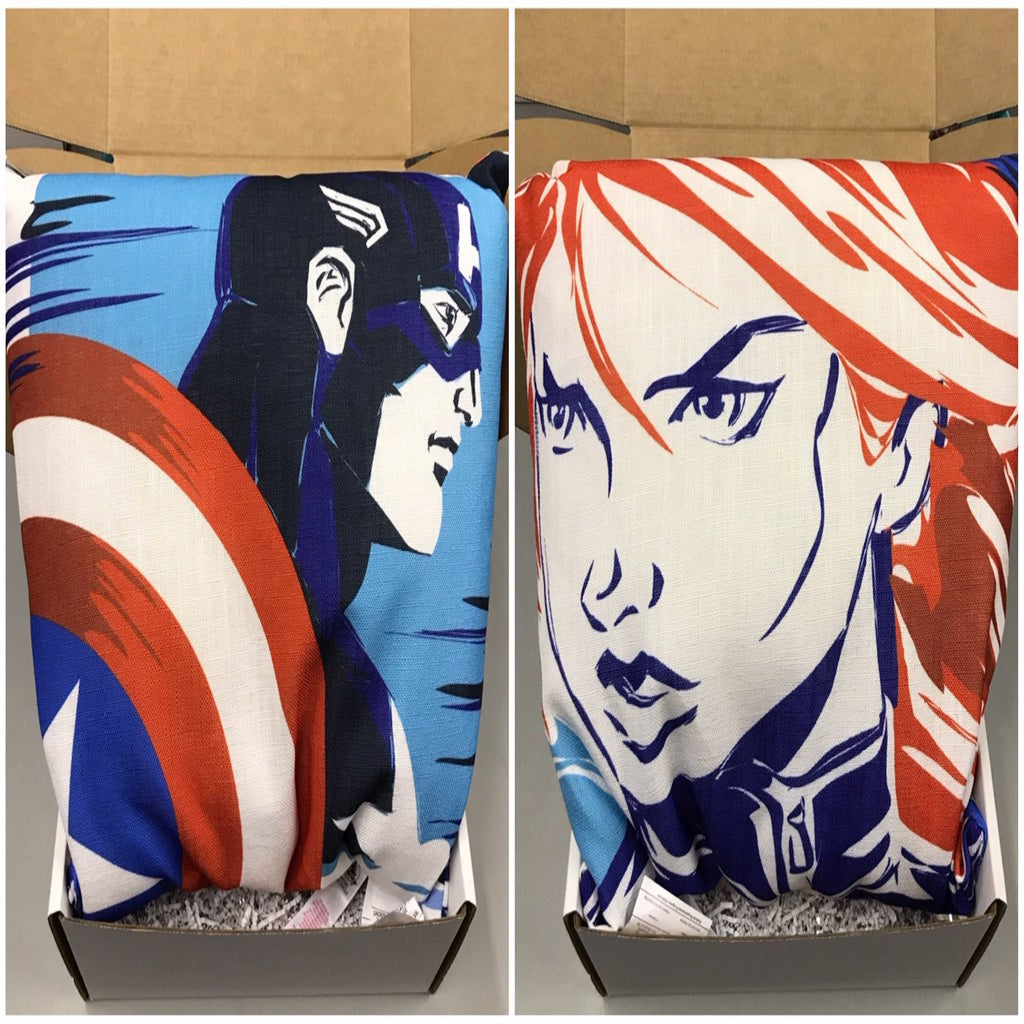 Throw Pillow - Captain America/Black Widow