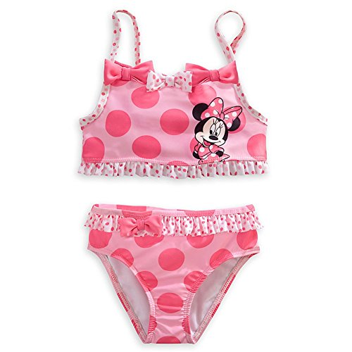 Wishlist - Swim - 2Pc: Minnie Pink Dots & Bows - Youth Size 5/6