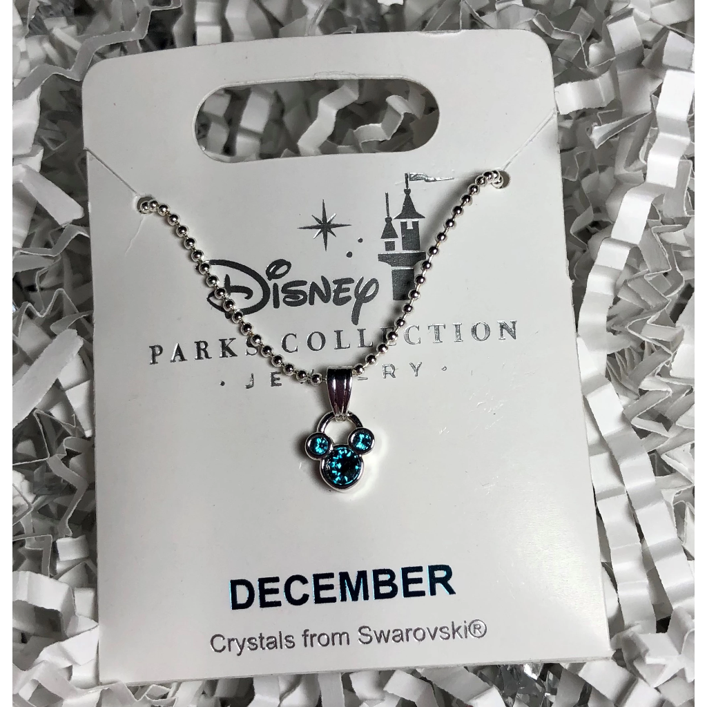 Jewelry (Necklace): December Birthstone Mickey Icon (Silver)