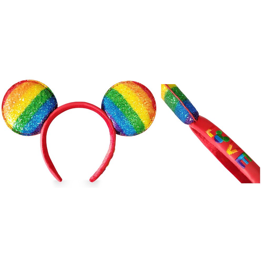 Ear Headband: Mickey Mouse Rainbow Love