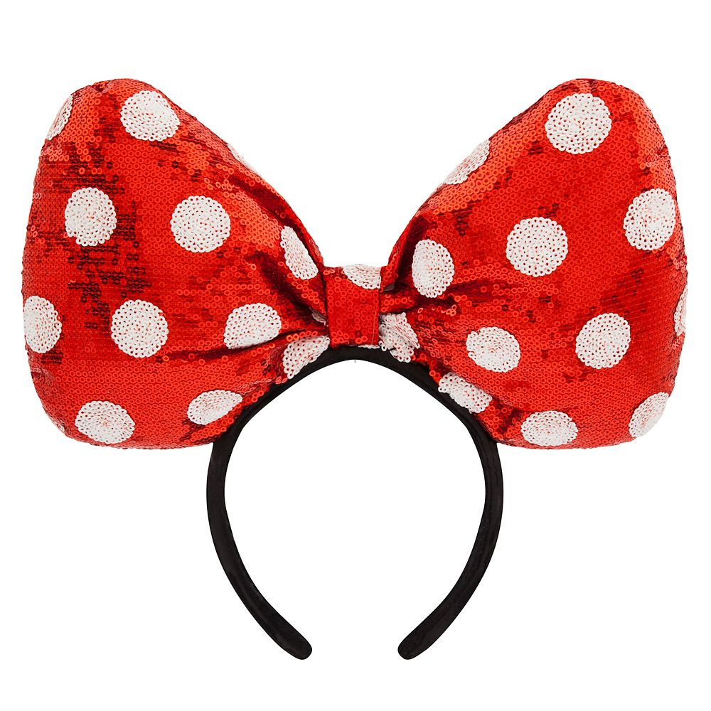 Wishlist - Ear Headband: Minnie Mouse Giant Red Sequined Bow