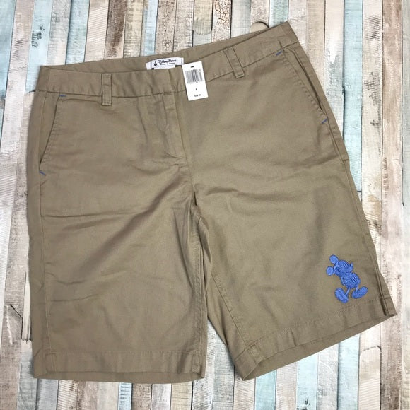 Wishlist - Apparel - Shorts: Khaki w/Embroidered Mickey - Women's Size 8