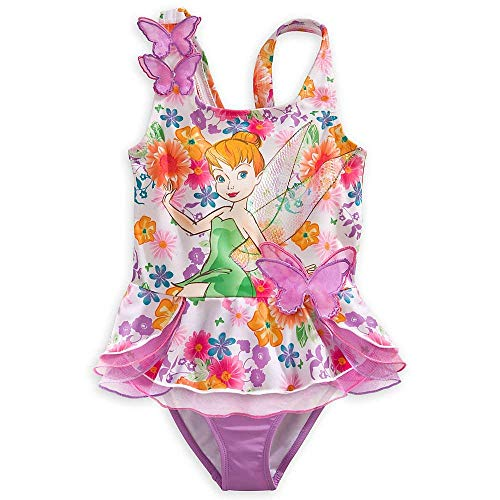 Wishlist - Swim - 2Pc: Tinkerbell Flowers/Butterflies - Youth Size 5/6