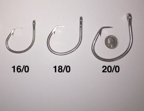 5 Count 39960D Mustad Circle Hook 16/0-20/0