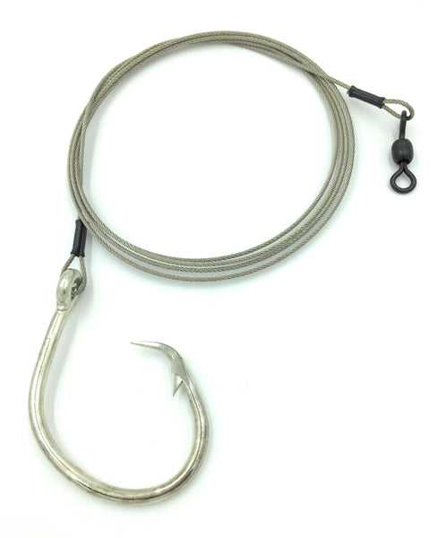 5' Braided 480lb Stainless Fishing Leader Mustad, 3 Pack