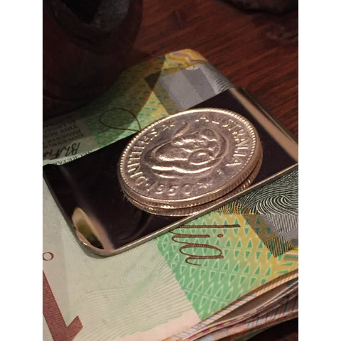 AUSTRALIAN SHILLING - MONEY CLIP | Vintage Spirit - Handcrafted Coin Creations