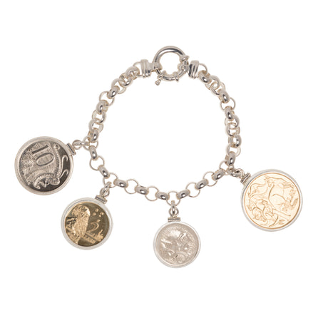 Australian Decimal coins - Mint condition - Bolt Ring Bracelet - Front