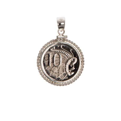 AUSTRALIAN 10 CENT - TWISTED ROPE BEZEL - FRONT