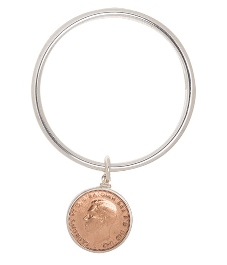 AUSTRALIAN PENNY - STERLING SILVER BANGLE - BACK